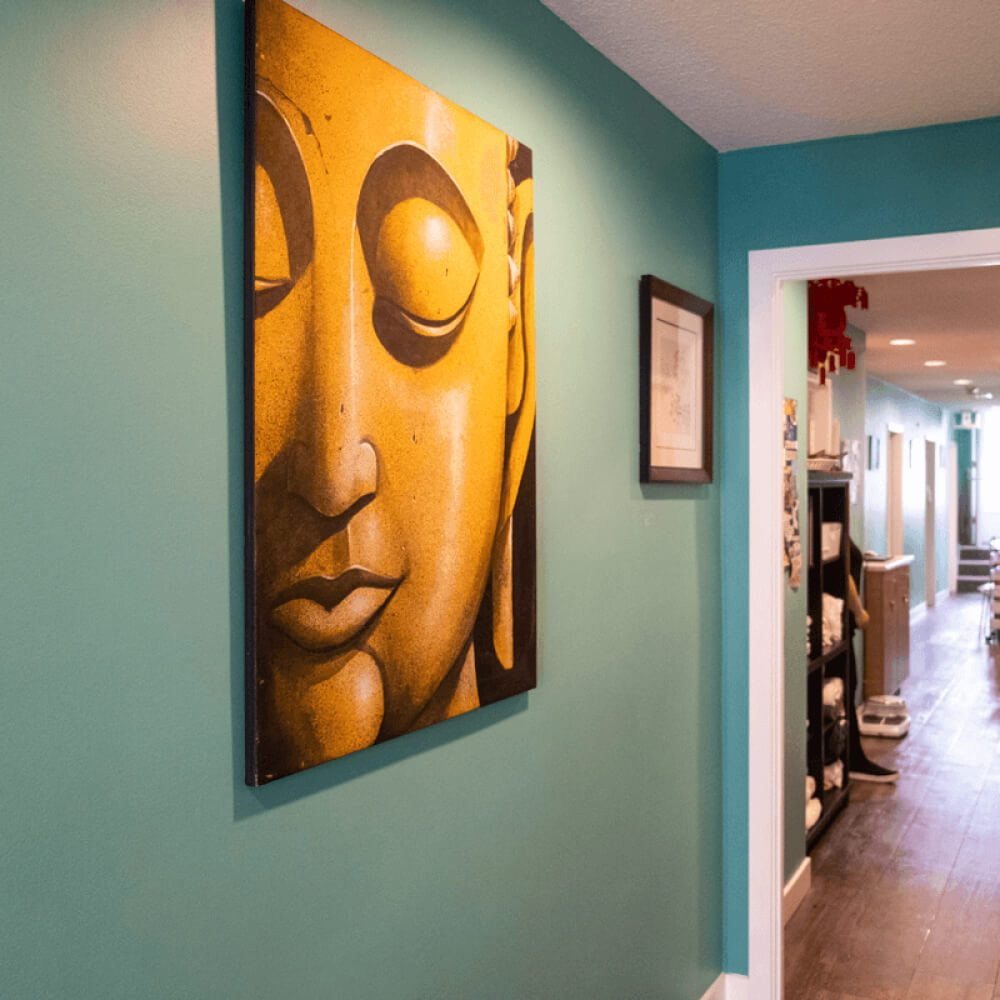 Wall art in Wellness Clinic in Burnaby Vancouver